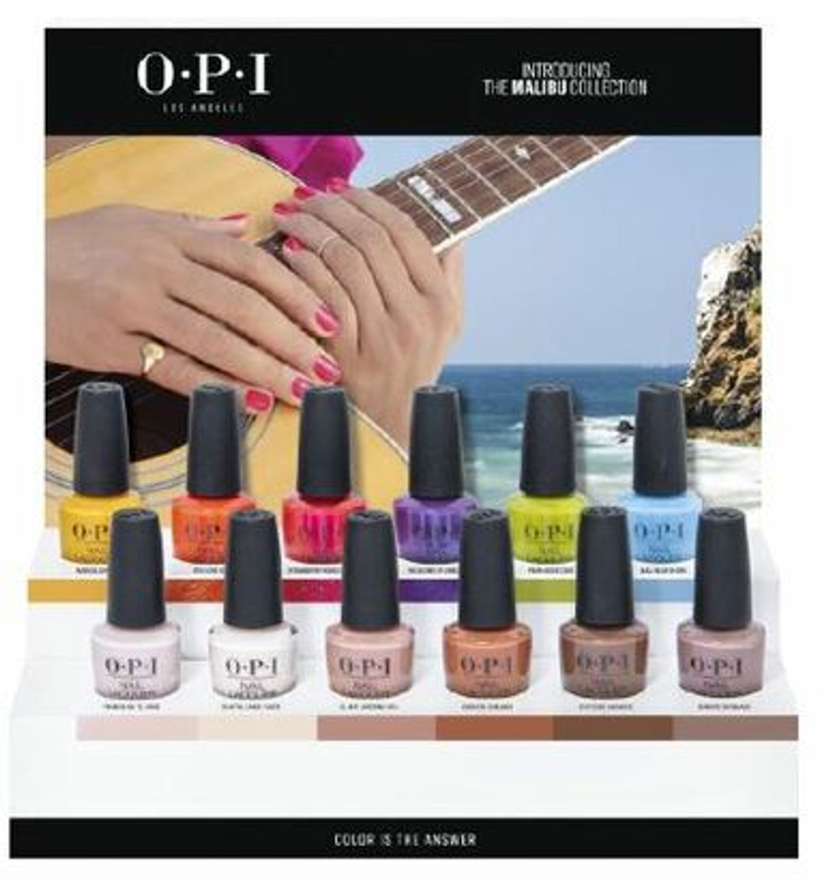 OPI Classic Nail Lacquer SUMMER 2021 Malibu Collection - 12 Chipboard Display