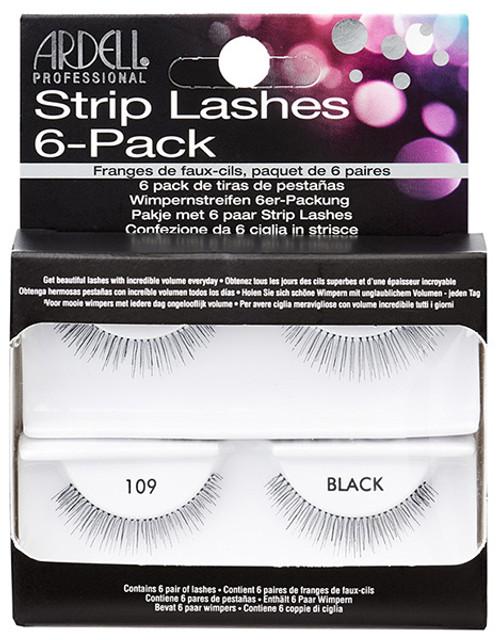 Ardell Strip Lashes 6-Pack - 109 Black