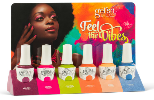 Gelish Soak-Off Gel Summer 2021 Feel The Vibes Collection - 6 PC Display