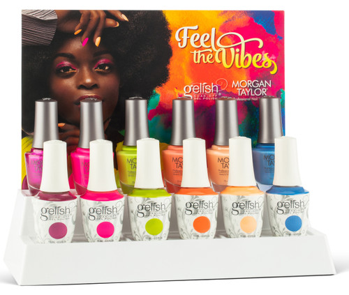 Gelish Summer 2021 Feel The Vibes Collection - 12 PC Mixed Display