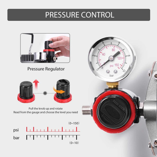 Professional Airbrushing System with 1/5 HP Air Compressor and 1 Airbrush Kit