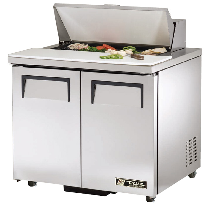 Picture of a True Salad and Sandwich Prep Table Refrigeration Unit