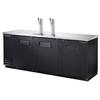 True TDD-4-HC Kegerator Direct Draw Beer Dispenser - 4 Kegs - Black