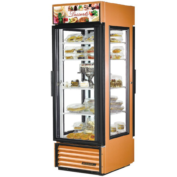 G4SM-23PT-LD True 23 Cu. Ft. Pass Thru Glass 4-Sided Merchandiser