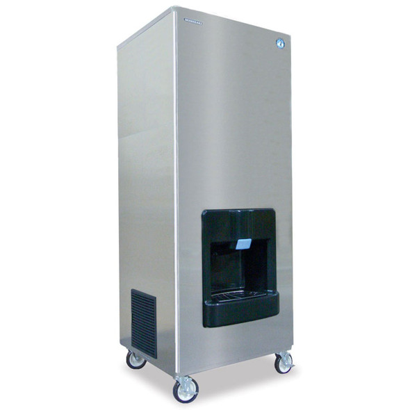 409 lbs Hoshizaki DKM-500BAH Cresent Ice Cuber with Hotel Dispensing Bin