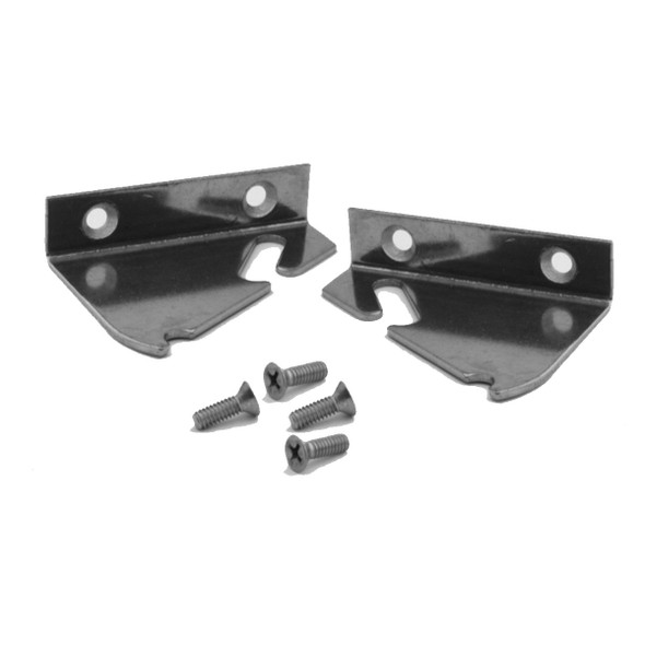 Image of both brackets and included screws in the True 959410 kit