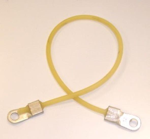 Top view of looped True 885491 door cord with terminal rings.