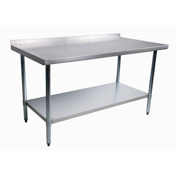 Atlantic Metalworks stainless steel commercial work table with back splash