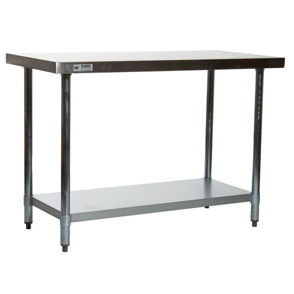 "Atlantic Metalworks STT-2448-E 24"" x 48"" Stainless Steel Work Table"