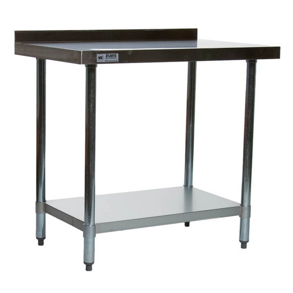 "Atlantic Metalworks Stainless Steel Commercial Work Table 24"" x 36"""