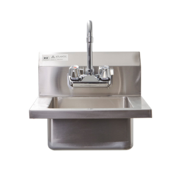 Atlantic Metalworks HS-1210-5 Wall Mounted 2 Hole Hand Sink