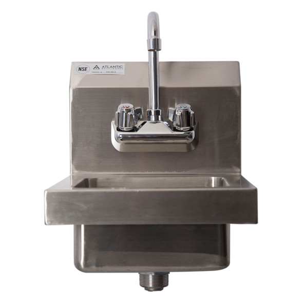Atlantic Metalworks 2-Hole Space Saver Wall Mount Hand Sink