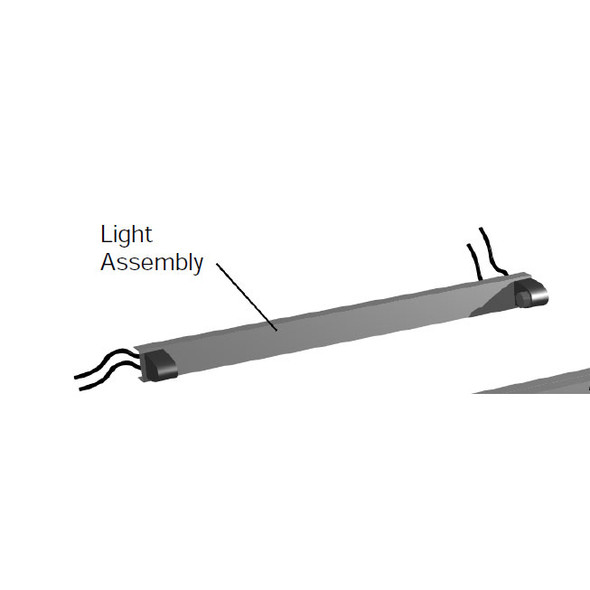 Drawing of 931294 Shelving Kit with Light Assembly