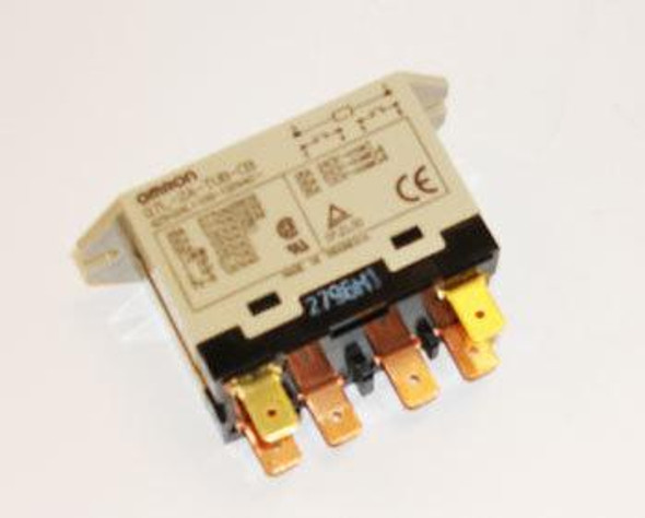 Side view of the True 822234 relay by Omron (G7L-2A-TUB-CB-A).