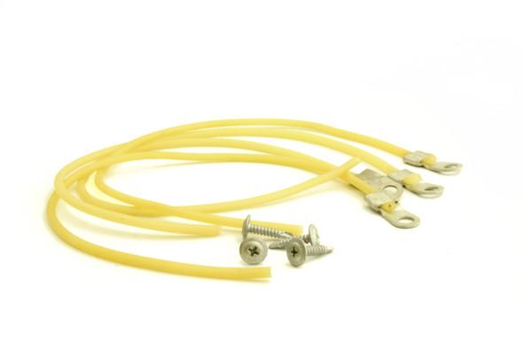 Four True 874101 latex door cords with screws