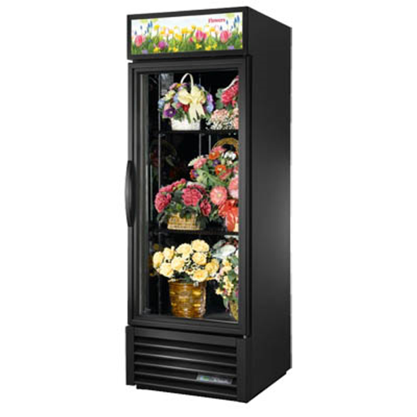 True GDM-23FC-HC~TSL01 Glass Swing Door Floral Case