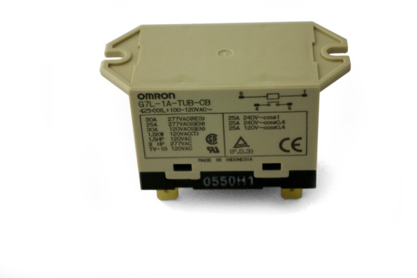 Front view of the True 800182 relay by Omron (G7L-1A-TUB-CB)