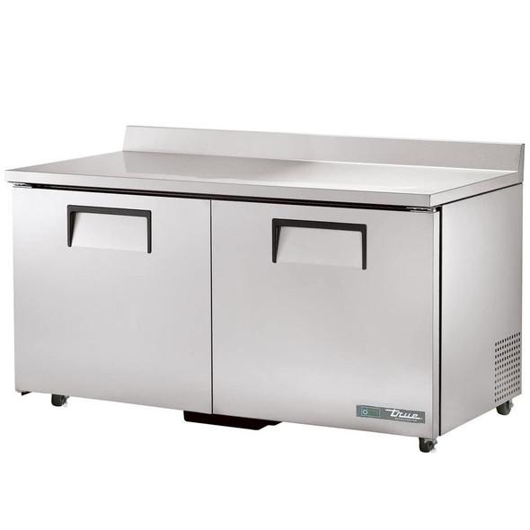 """TWT-60-ADA-HC True 60"""" 2 Door Worktop Refrigerator"""