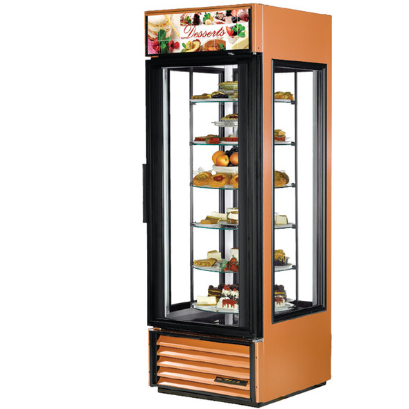 G4SM-23-RGS True 23 Cu. Ft. Rotating Glass Shelf Merchandiser