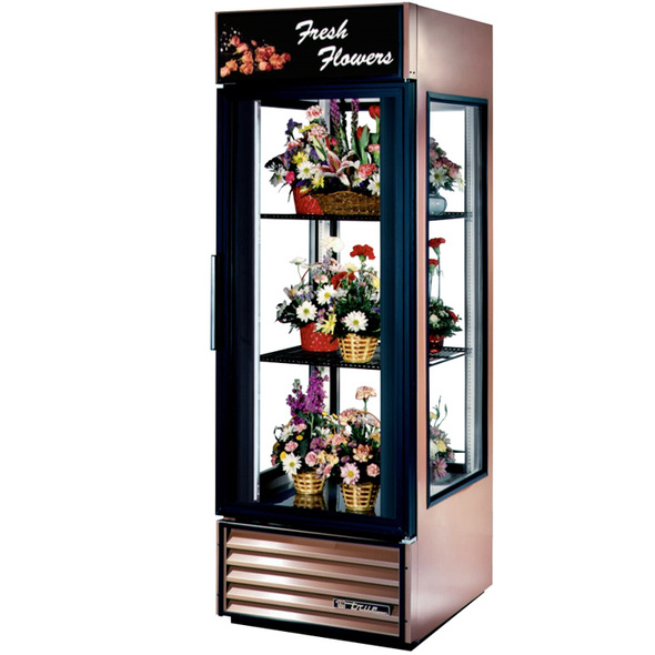 G4SM-23FC-LD True 23 Cu. Ft. Glass Sided Swing Door Floral Case