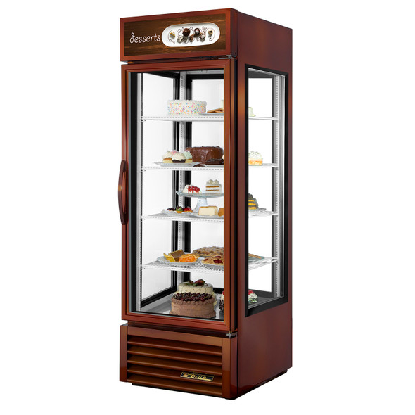 G4SM-23-LD True 23 Cu. Ft. Glass 4-Sided Merchandiser