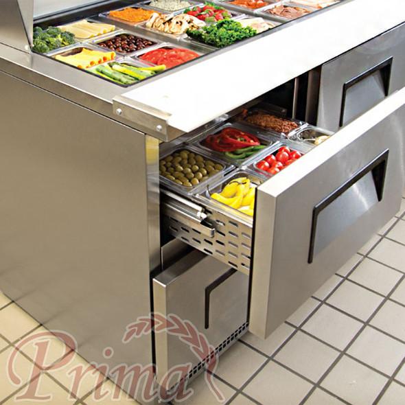 Drawer on True TFP-48-18M-D-4 food prep table