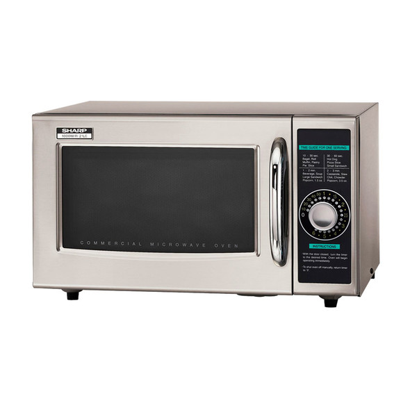 Angle view of Sharp R-21LCF 1000W Commercial Microwave