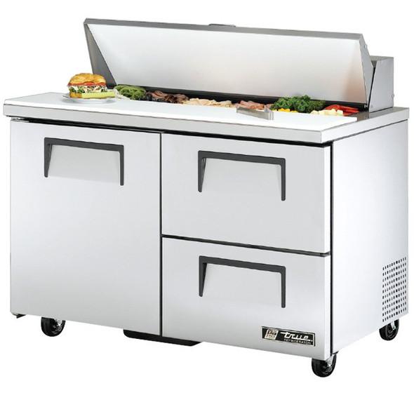 "TSSU-48-12D-2 True 48"" 12 Bin 2 Drawer Sandwich/Salad Prep Table"