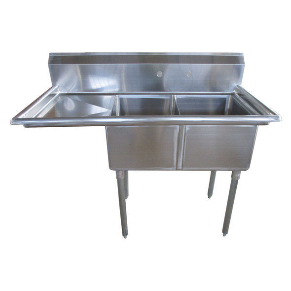Atlantic Metalworks 16 x 20 x 12 2 Compartment 1 Drainboard Sink