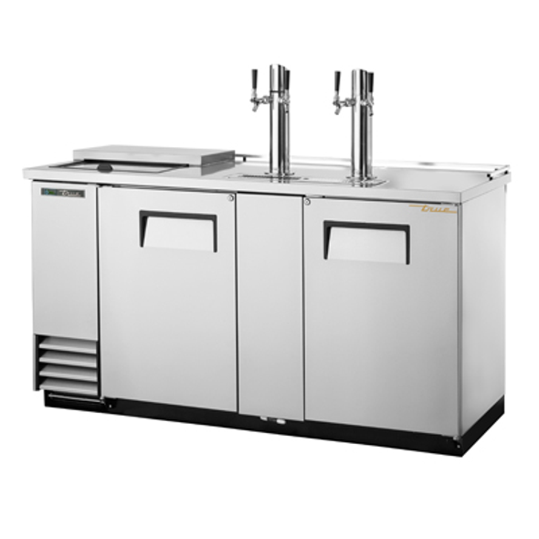 True TDD-3CT-HC Club Top Direct Draw Beer Dispenser - 3 Kegs - stainless