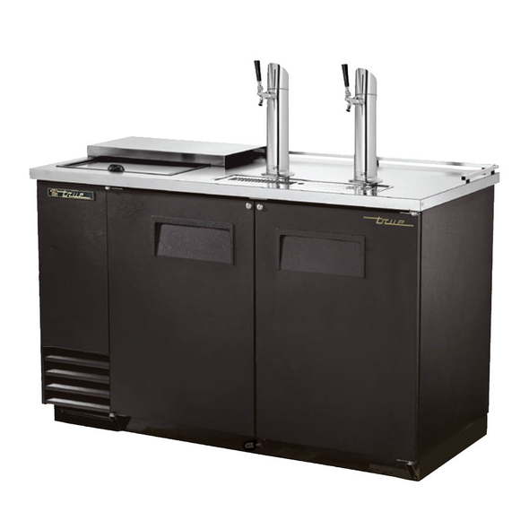 True TDD-2CT Club Top Direct Draw Beer Dispenser - 2 Kegs - black