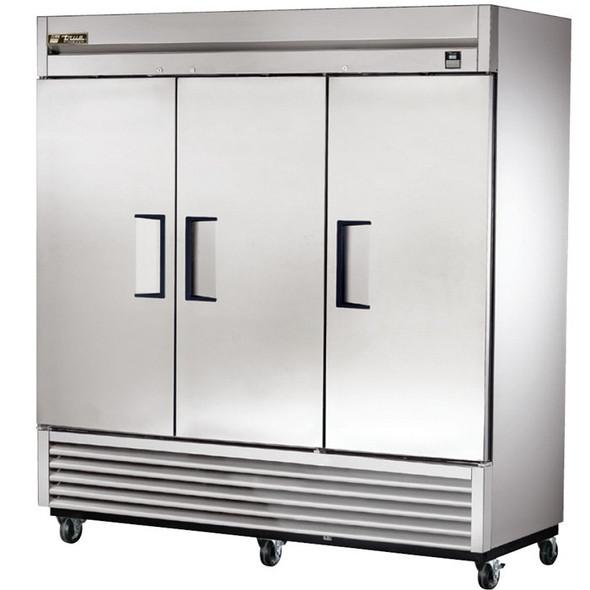 TS-72 True 72 Cu. Ft. Stainless Steel 3 Solid Door Refrigerator
