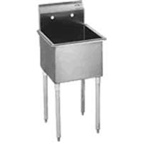 Atlantic Metalworks 1CS-162012-0 - 16x20x12 Economy No Drainboard 1 Bowl Sink