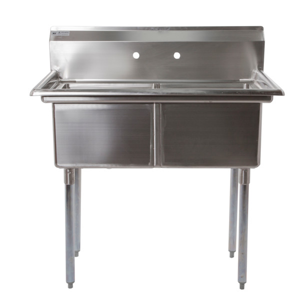 Atlantic Metalworks 2CS-181812-0 -18x18x12 - 2 Bowl No Drainboard Sink