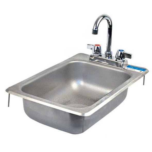 BK Resources BK-DIS-1014-5D-P-G Drop-In Sink with Faucet