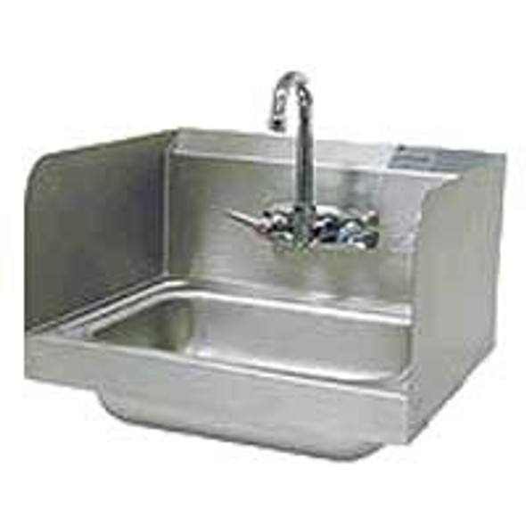 BK Resources BKHS-W-1410-SS-P-G Splash Mount Hand Sink w/Side Splashes - Lead Free