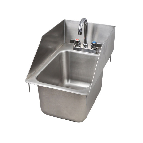 Angle view of BK Resources BK-DIS-1014-10-SS-PG Drop-In Sink