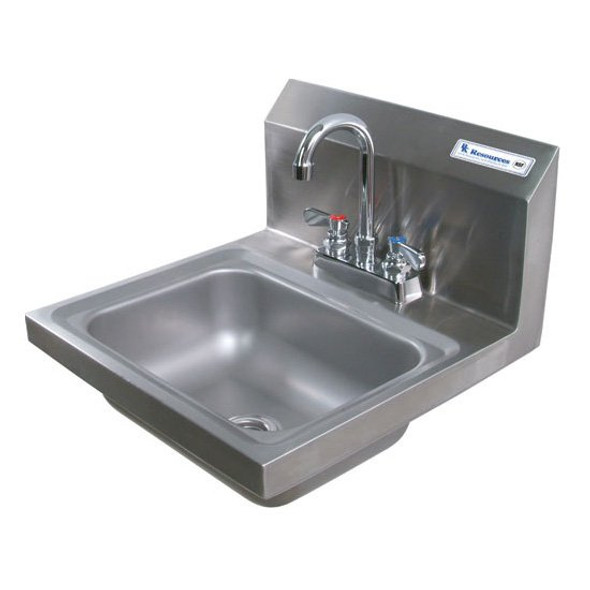 BK Resources BKHS-D-1410-P-G Lead Free Deck Mount Hand Sink w/Faucet