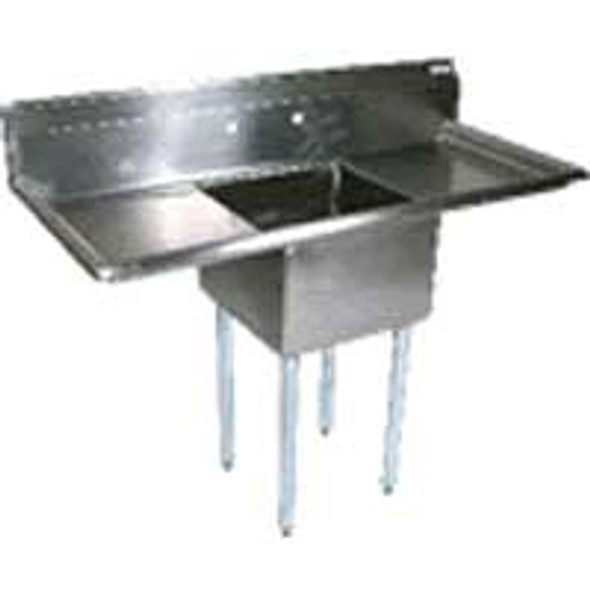 BK Resources BKS-1-1824-14-24T - 1 Bowl 18x24x14 2 Drainboard