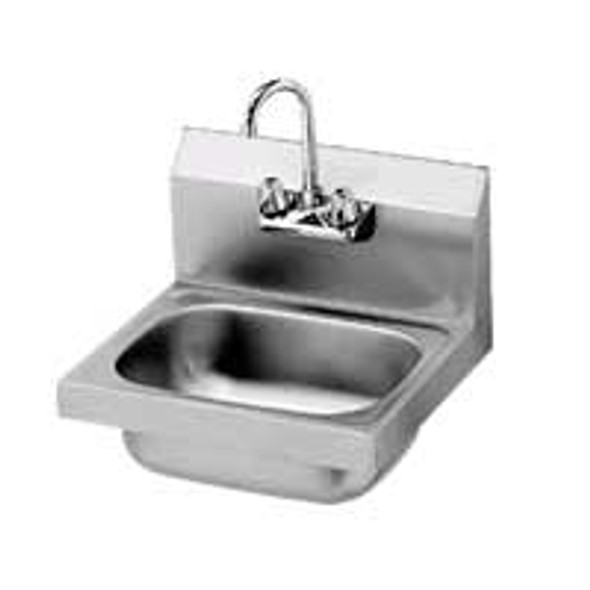 BK Resources BKHS-W-1410-P-G Basic Splash/Wall Mount 2-Hole Hand Sink - Lead Free