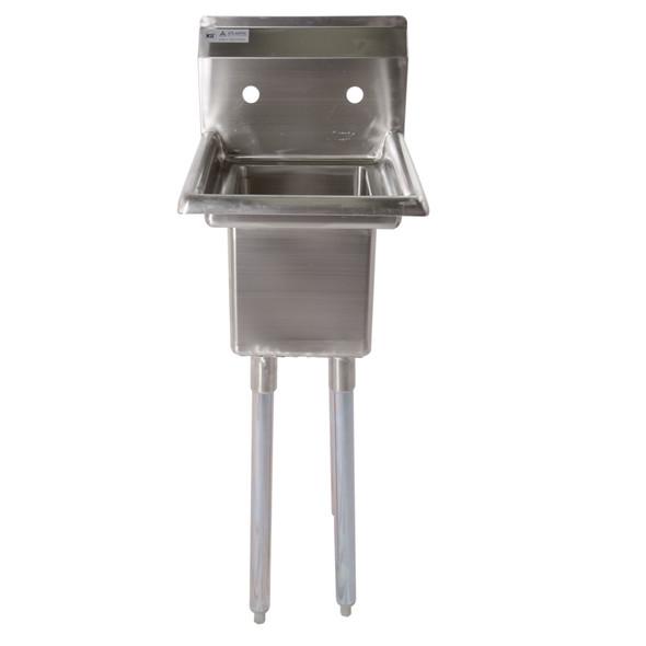 Atlantic Metalworks 1CS-101410-0 - 10x14x10 No Drainboard Economy 1 Bowl Sink