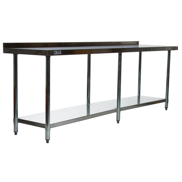 Atlantic Metalworks STT-2496-2BS Stainless Steel Work Table with Backsplash