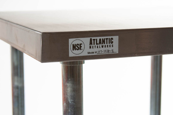 Atlantic Metalworks table corner