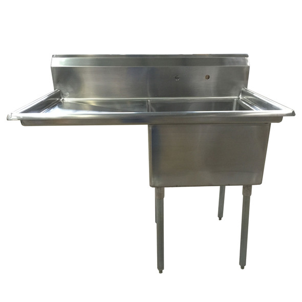 Atlantic Metalworks - 24 x 24 x 14 Bowl - 1 Left Drainboard - 1 Compartment Sink