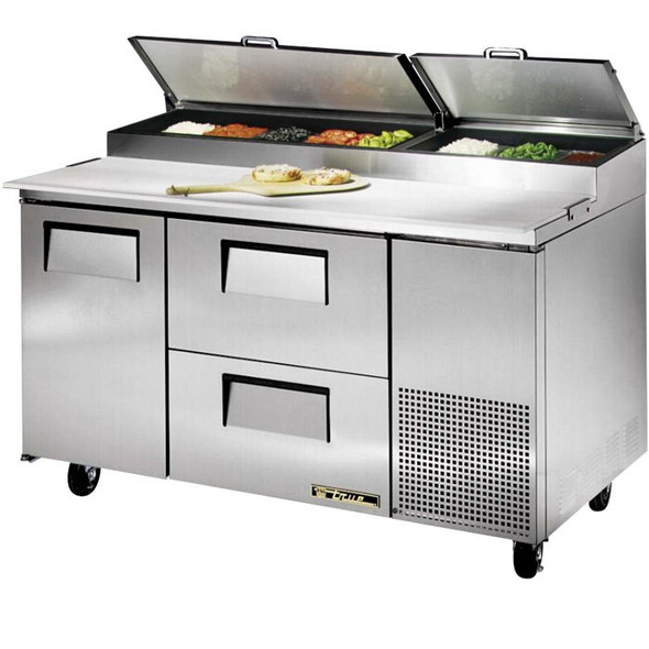 "TPP-60D-2 True 60"" Pizza Prep Table w/ 2 Drawers"