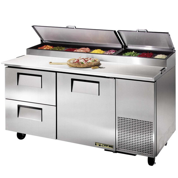 "TPP-67D-2 True 67"" Pizza Prep Table w/ 2 Drawers"