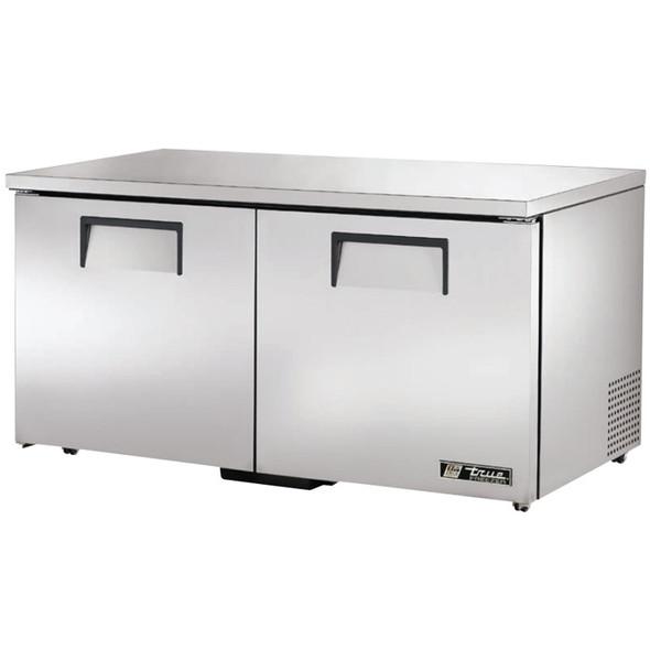 """TUC-60F-LP-HC True 60"""" 2 Door Low Profile Undercounter Freezer"""