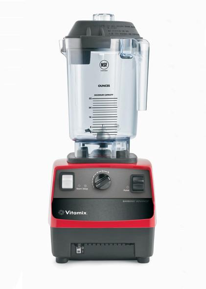Vitamix 5085 BarBoss Drink Blender in red, front of blender