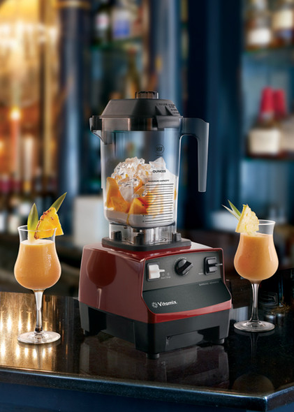 Vitamix 5085 BarBoss Drink Blender at an angle with cocktails