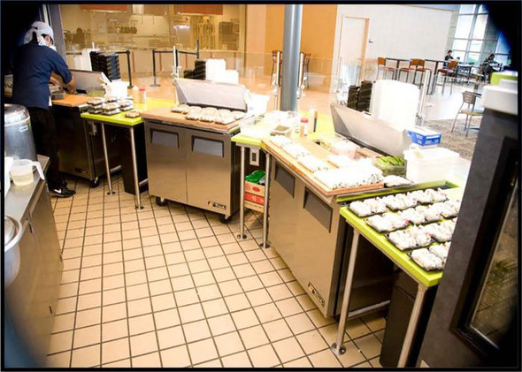 True TSSU unit in a kitchen.